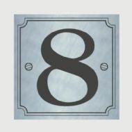 Classic Designs House Number Silver - No 8